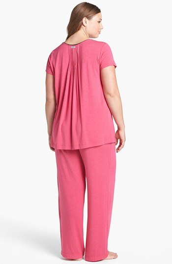 DKNY '7 Easy Pieces' Pintuck Top (Plus Size)