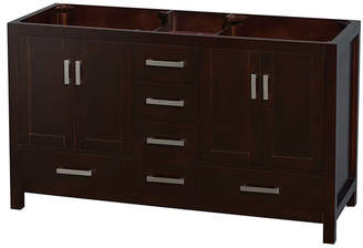 "Wyndham Collection Sheffield 60"" Double Bathroom Vanity Base Only Base"