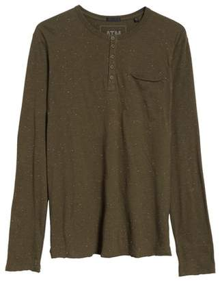 ATM Anthony Thomas Melillo Long Sleeve Pocket Henley T-Shirt