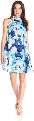 Eliza J Women's Floral Float Dress with Ruffles