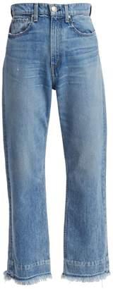 Rag & Bone Ruth Super High-Rise Frayed Hem Jeans