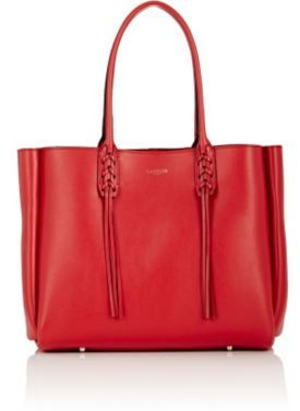 Lanvin Women's Tasseled-Handle Small Shopper Tote-RED $1,550 thestylecure.com