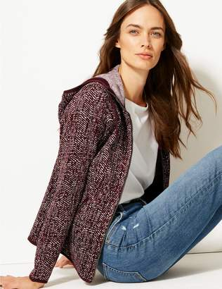 Marks and Spencer Herringbone Printed Fleece Jacket