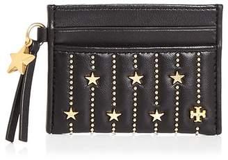 Tory Burch Slim Star Stud Leather Card Case