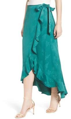 Chelsea28 Jacquard High/Low Wrap Skirt