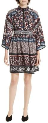 Kate Spade roseta patchwork silk dress