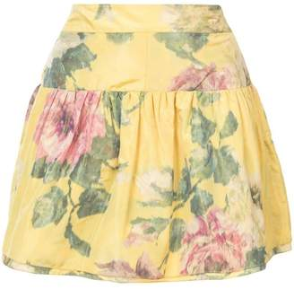 Marchesa floral print mini skirt
