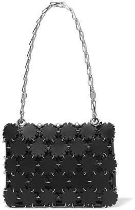 Paco Rabanne Blossom 1969 Laser-cut Leather And Canvas Shoulder Bag - Black