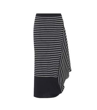J.W.Anderson Striped wool draped pencil skirt