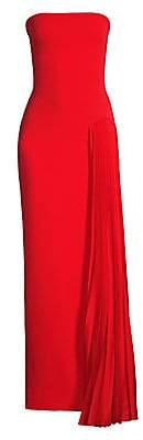 SOLACE London Women's Dolly Strapless Side Pleated Gown - Size 0