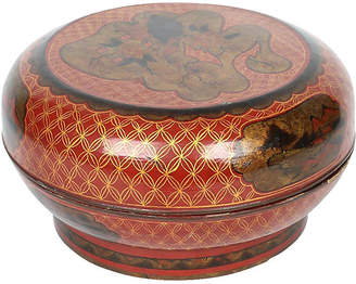 One Kings Lane Vintage Hand-Painted Lacquered Bowl - de-cor