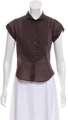 Max Mara Weekend Short Sleeve Button-Up Top