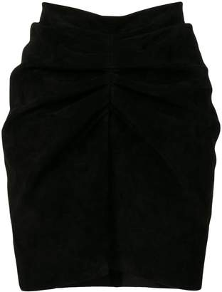 Saint Laurent ruched fitted skirt