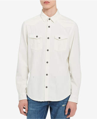 Calvin Klein Jeans Men's Western Destroyer Shirt