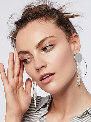 Collins Fringe Hoops by Free People $28 thestylecure.com