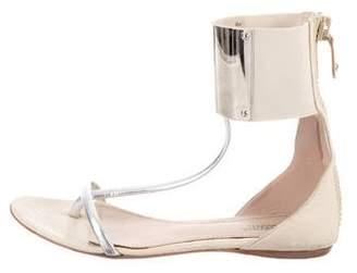 Giambattista Valli Leather Gladiator Sandals