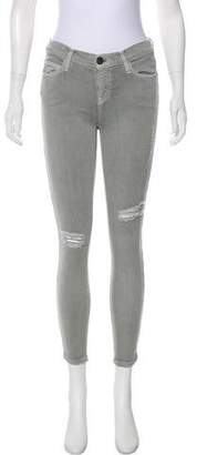 Current/Elliott Distressed Mid-Rise Jeans