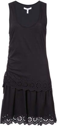 Derek Lam 10 Crosby Sleeveless Tiered Dress With Scallop Hem