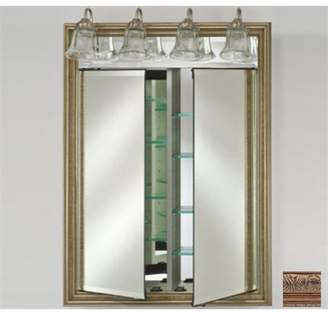 Afina Corporation DD-LT3140RSIEBZ 31x40 Traditional Integral Lighted Double Door - Siena Antique Oiled Bronze
