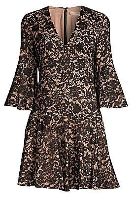 Michael Kors Women's Bell-Sleeve Lace Dress
