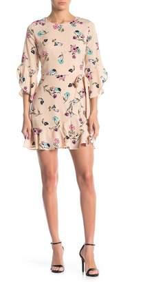 J.o.a. Floral Faux Wrap Dress