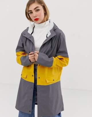 MBYM paneled rain coat