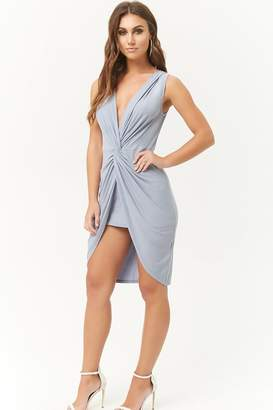 Forever 21 Twist-Front Tulip Dress