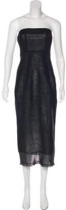 Zero Maria Cornejo Strapless Midi Dress w/ Tags