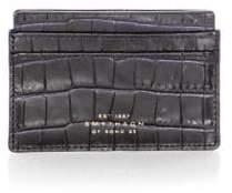 Smythson Mara Croc-Embossed Leather Card Holder