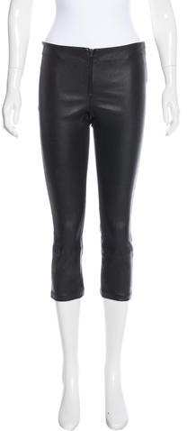 Alice + Olivia Alice + Olivia Leather Straight-Leg Leggings w/ Tags