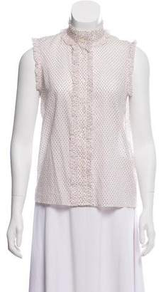Vanessa Seward Sleeveless Button-Up Top