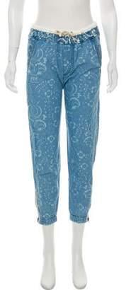 Burton Printed Mid-Rise Jeans