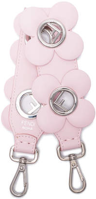 Fendi pink Mini Strap You floral leather bag strap