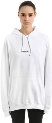 Unfollow Cotton Sweatshirt Hoodie