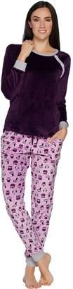 Cuddl Duds Ultra Plush Velvet Fleece Novelty Pajama Set