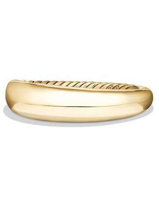 David Yurman 17mm Pure Form Bracelet in 18K Yellow Gold, Size M