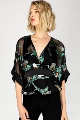 Adelyn Rae Print Kimono Top