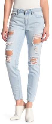 YMI Jeanswear Jeans Mid-Rise Distressed Skinny Jeans