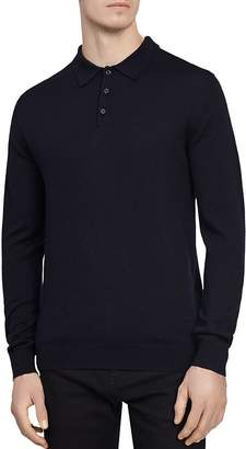 Reiss Trafford Merino Wool Polo Sweater