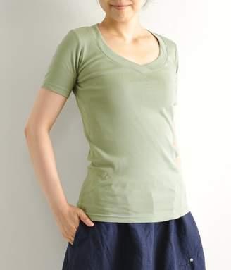 シュクレフライスVネック 半袖Tシャツ(A・グレージュ)[SALE]