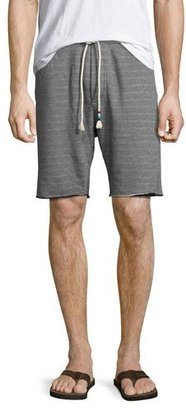 Sol Angeles Double-Face Raw-Hem Sweat Shorts, Light Gray $118 thestylecure.com