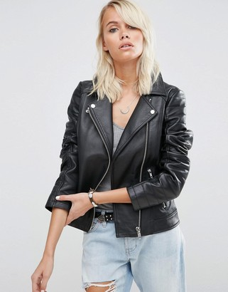 ASOS Ultimate Biker Jacket in Leather $136 thestylecure.com