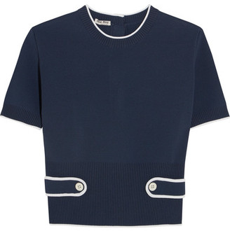 Miu Miu - Stretch-knit Top - Navy
