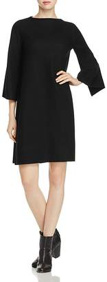 Eileen Fisher Bell Sleeve Wool Shift Dress $278 thestylecure.com