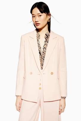 Topshop Womens Blazer With Linen - Blush