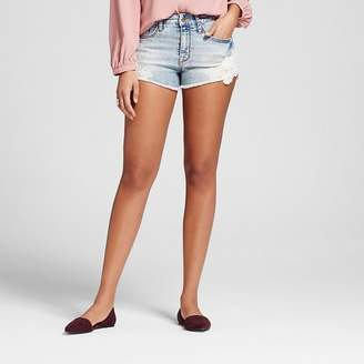 Mossimo Women's High-rise Shorts with Crochet Hem Light Wash - Mossimo $22.99 thestylecure.com