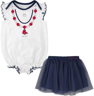 Majestic Baby Boston Red Sox Fancy Play Bodysuit & Skirt Set