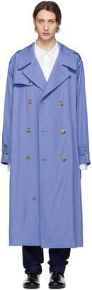 Maison Margiela Blue Poplin Trench Coat