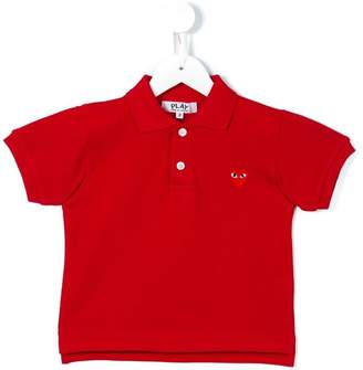 Comme des Garcons Kids heart logo polo shirt