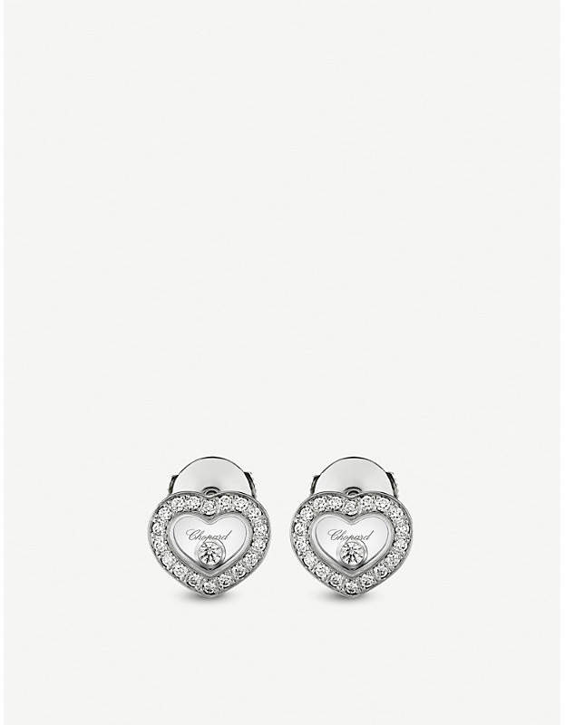 Happy Diamonds Icons 18ct white-gold and diamond earrings